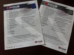 KOVA Corp. Cap. Slick