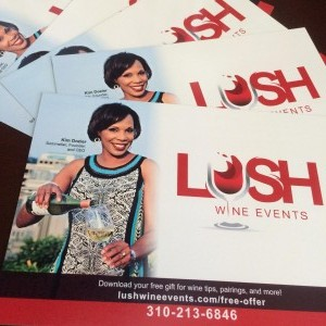 LUSH Wine Events Postcards