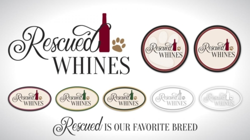 Rescued Whines Logo and Labela